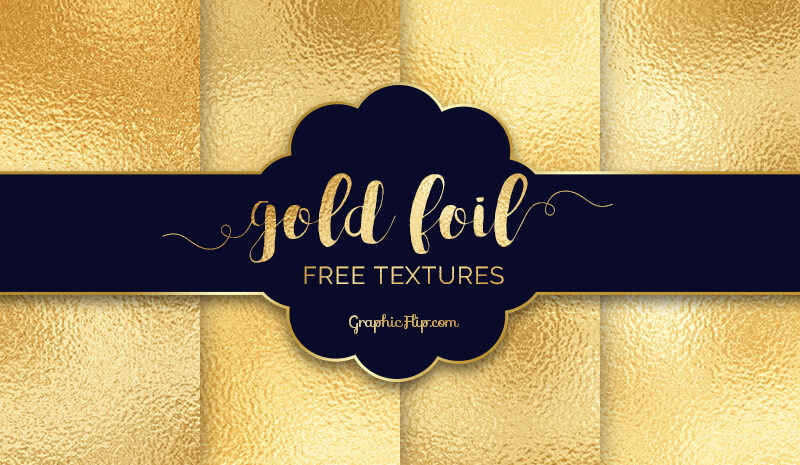 Free Gold Foil Textures Pack