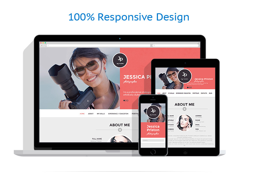 photographer cv wordpress theme. Resume Example. Resume CV Cover Letter