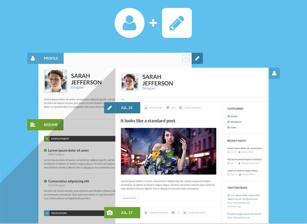 16 Resume WordPress Themes for Personal Websites with CV - Super Dev ...