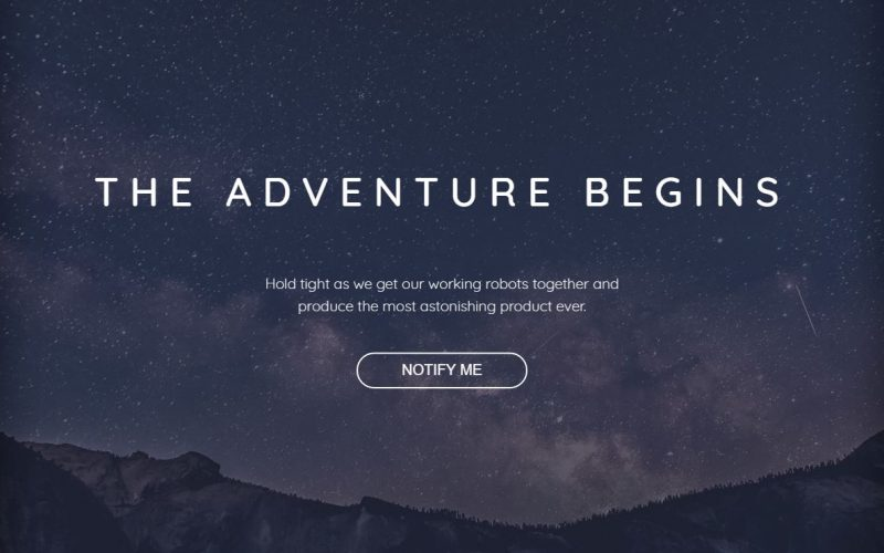Freebie: Coming Soon Bootstrap 4 Template with Full Width Background Image