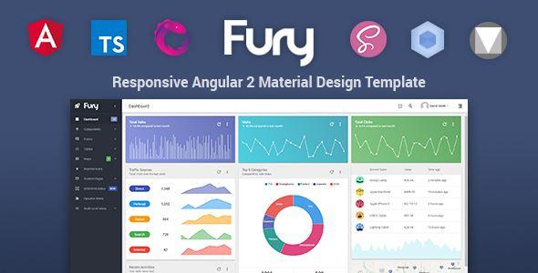 Fury Angular 2 Material Design Admin Template
