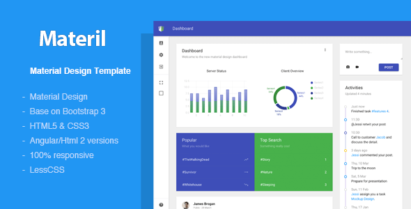 Top 20 Material Design Admin Templates for Download (Free & Premium