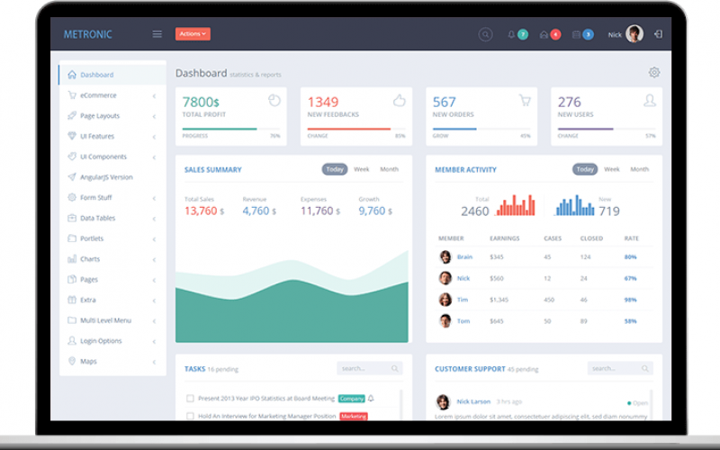 Top 20 Material Design Admin Templates for Download (Free & Premium)