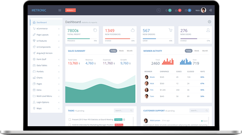 Top 20 Material Design Admin Templates for Download (Free ...