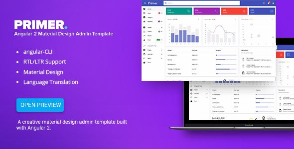 Primer Angular  Material Design Admin Template