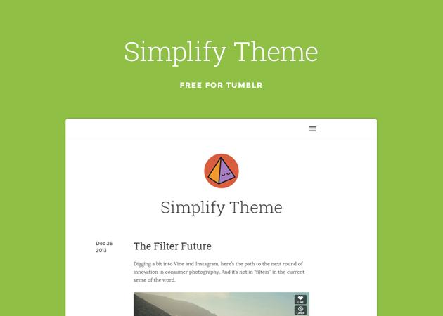 Simplify Free Minimal Tumblr Theme