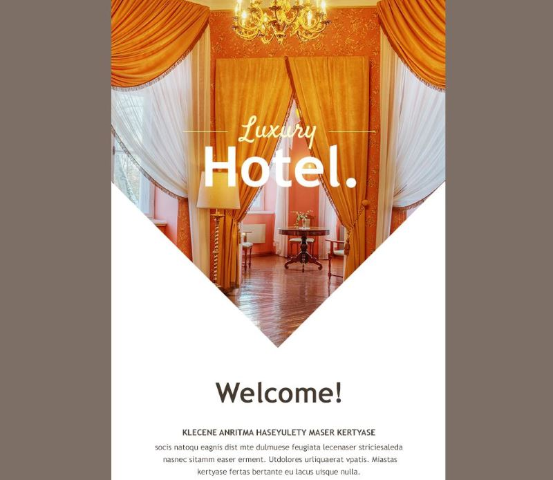 Luxury Hotel Email Template