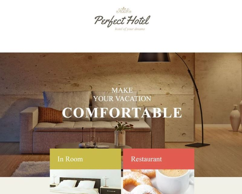 This Premium Responsive Template Has Warm And Friendly Design Perfect For Hotel Newsletters Email Campaigns The Is Mailchimp Campaign