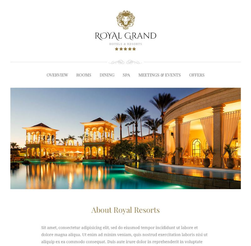 20 Professional Hotel Email Marketing and Newsletter Templates ...