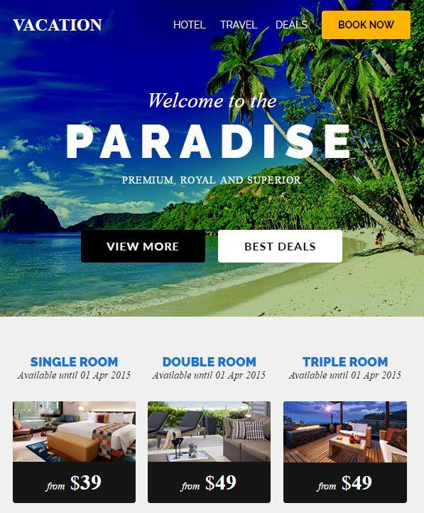 vacation-email-template Online Form Builder Mailchimp on business website, lego world,