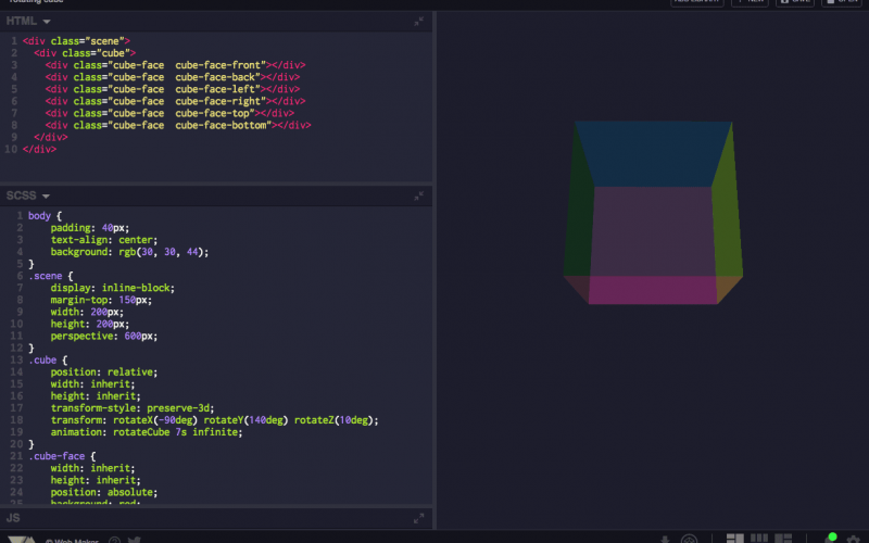 Web Maker – An Open Source CodePen Alternative which Works Offline