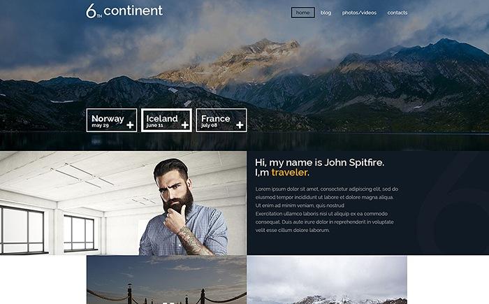 6th Continent – Travel Blog WordPress Theme