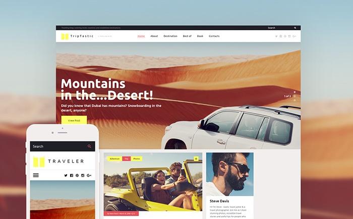 TripTastic – Travel Blog WordPress Theme