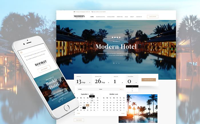 Bookit – Modern Hotel WordPress Theme