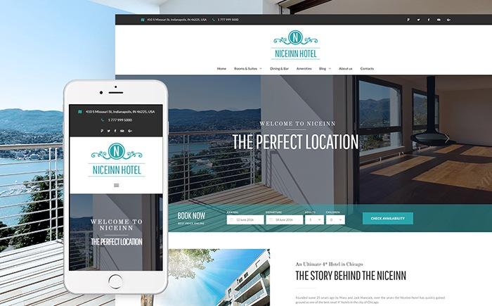 NiceInn Hotel – Small Hotel Responsive WordPress Theme