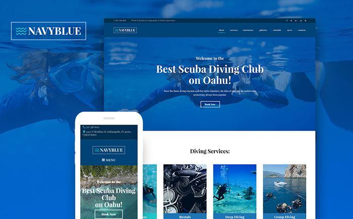 NavyBlue – Scuba Diving Club Responsive WordPress Theme