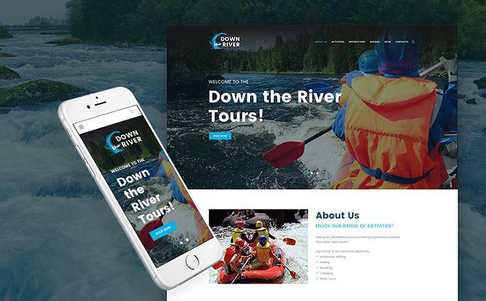 Down River – Rating and Kayaking WordPress Theme