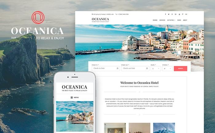 Oceanica – Hotel Booking WordPress Theme