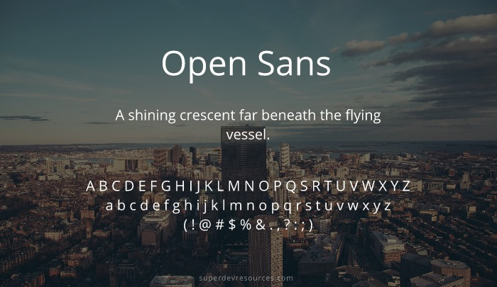 10 Best Open Sans Alternatives from Google Font Library
