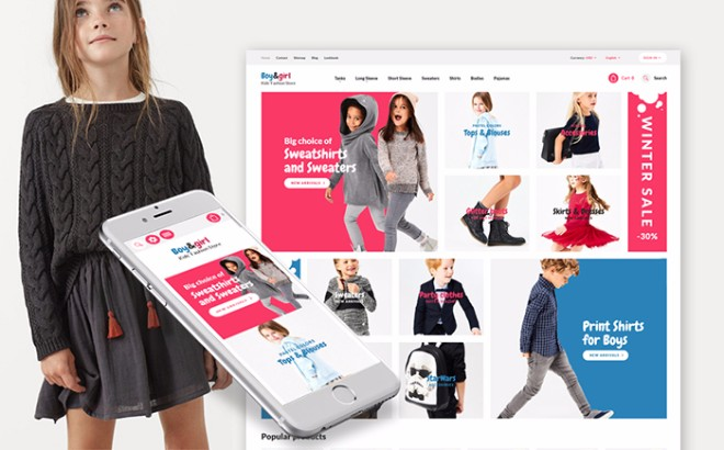 Kids Designer Clothes Responsive Prestashop Template