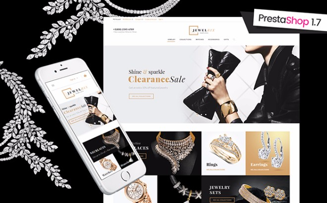 Jewelrix - Jewelry & Beauty Items Prestashop Template