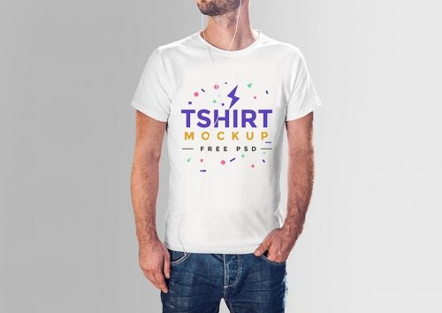 T-shirt mockup PSD for free download