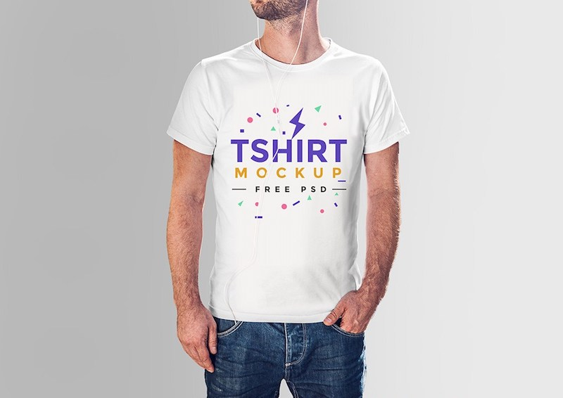 t shirt mockup psd for free download