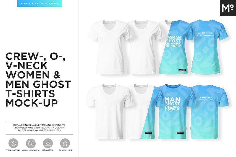 T-shirt templates for men and women