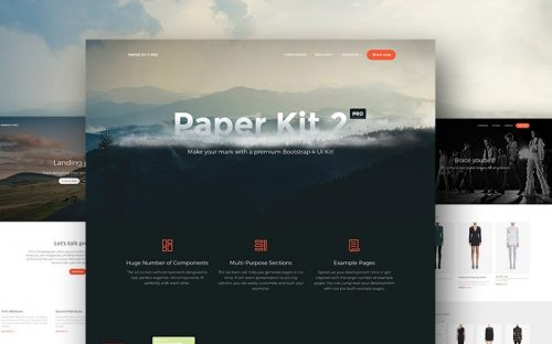 15 Bootstrap 4 UI Kits – HTML, PSD & Sketch for Free Download and Premium
