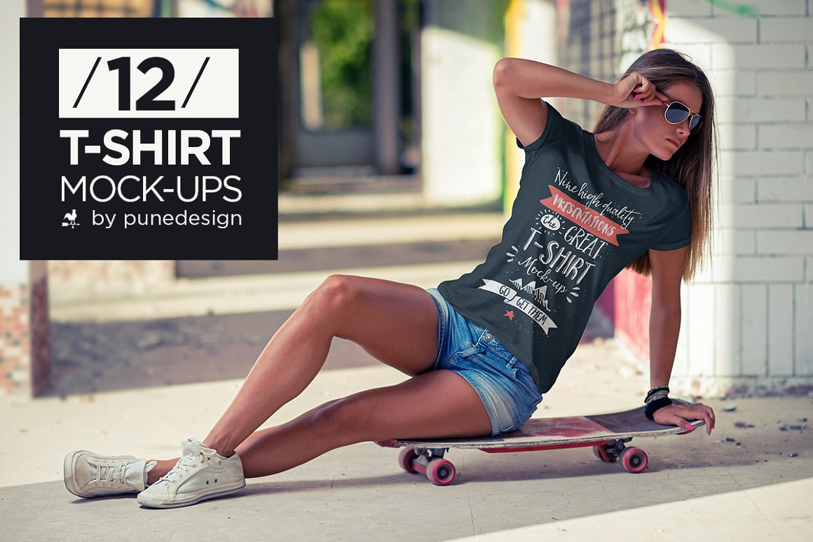 Photo Shoot Mockups for Women's T-Shirts
