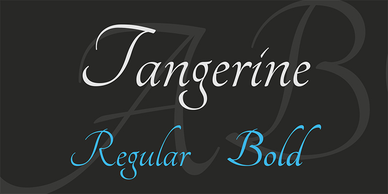 Tangerine Free Calligraphy Fonts - Regular & Bold