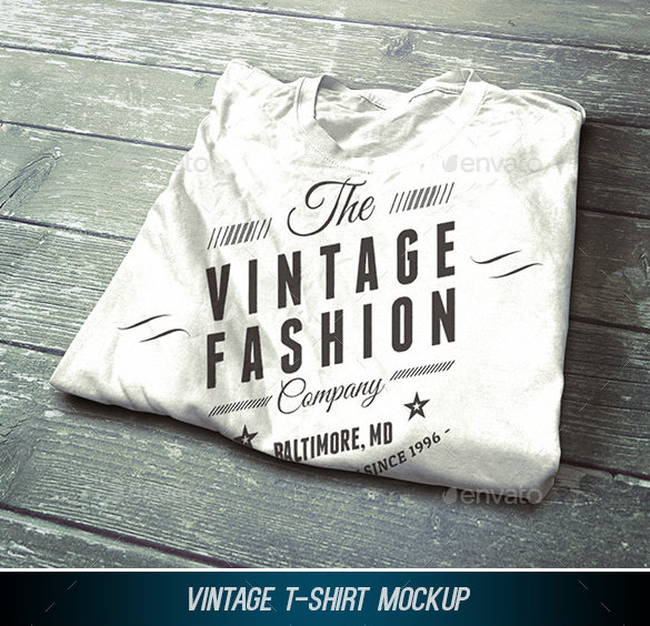 Template for vintage tshirt design