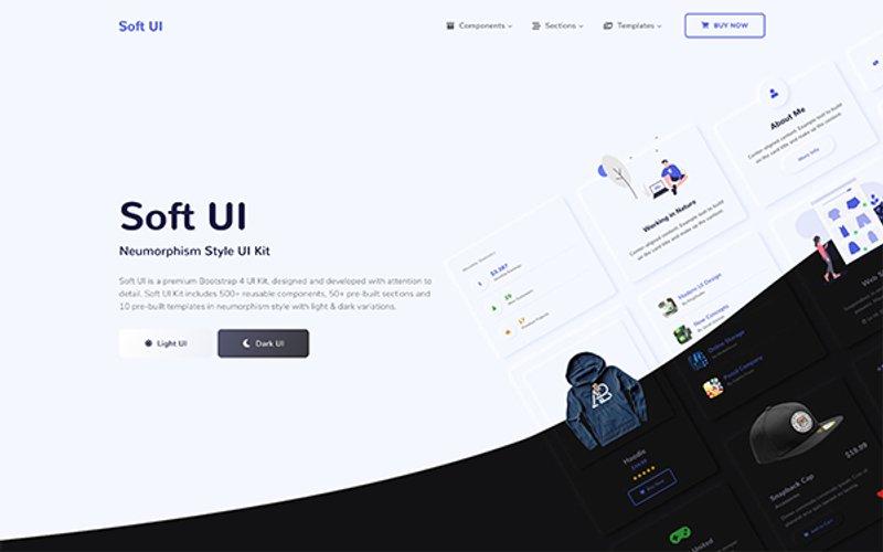 Soft UI Neumorphism Style