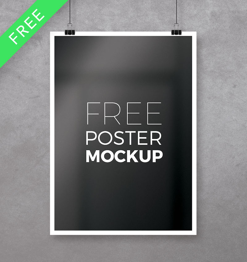 11x17 Poster Mockup Free