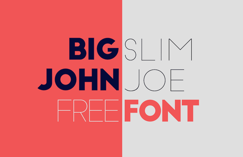 Modern Display Fonts - Big John & Slim Joe