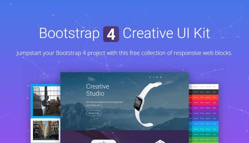 bootstrap 4 creative ui kit