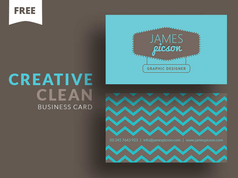 20 professional business card design templates for free download a clean photoshop business card template for creative professionals the zig zag pattern and blue color give it a unique look colourmoves