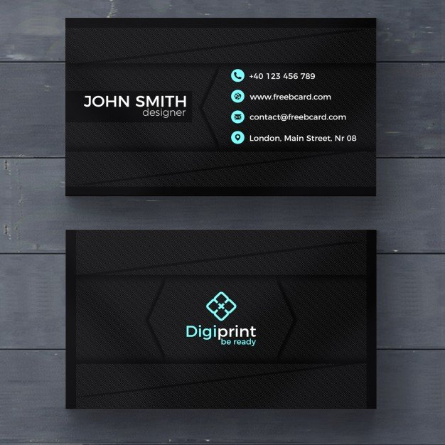 20 professional business card design templates for free download free download visiting card template in dark color with seamless square pattern background fbccfo Images