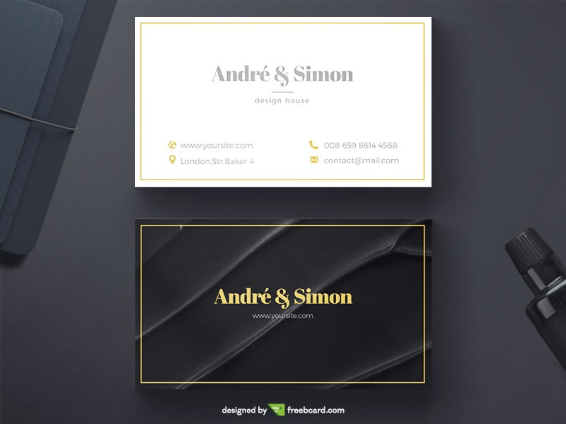 Professional Business Card Design Templates For Free Download - Black and white business card template