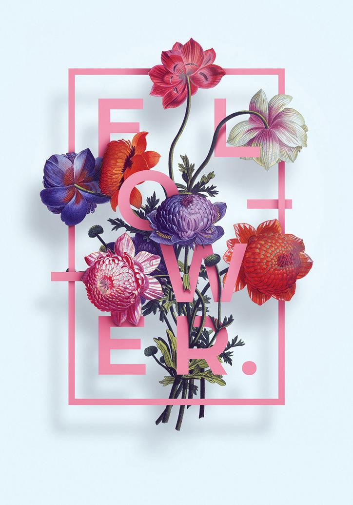 Floral Typography Design by Alexandr Gusakov