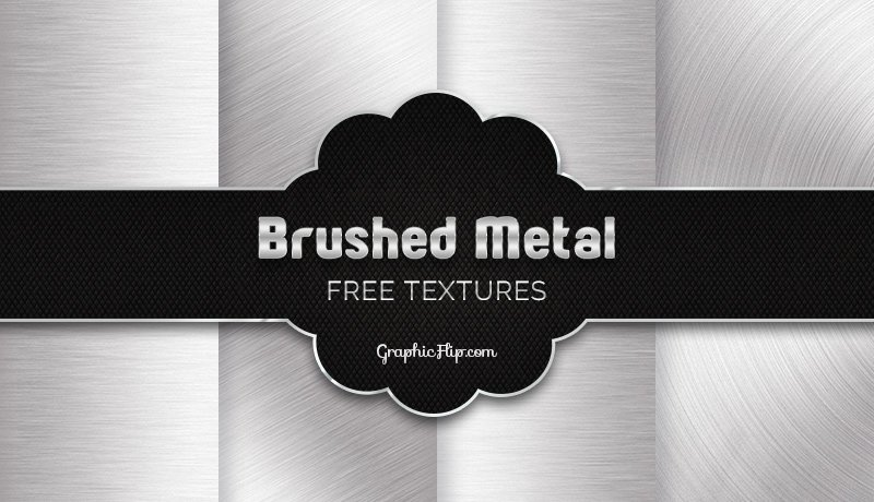 Free Brushed Metal Textures in Silver Grey Color