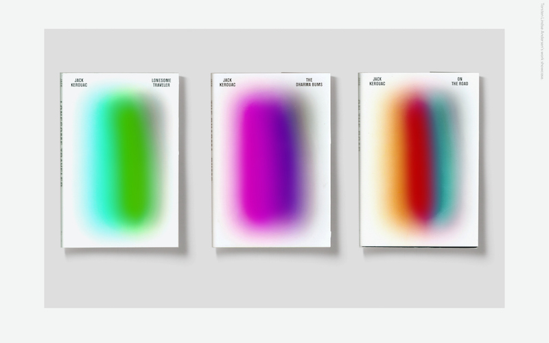 Jack Kerouac Book Cover Design Concept with Gradients