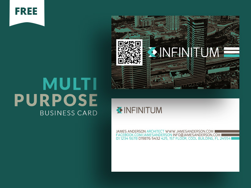 20 professional business card design templates for free download a multipurpose visiting card photoshop template with full image background and available for free download flashek Images