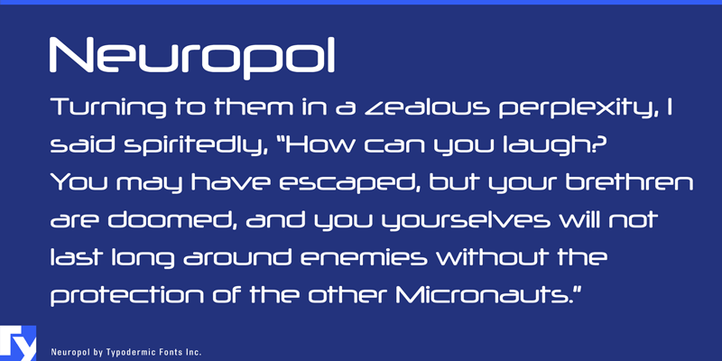 Neuropol free techno sci fi font