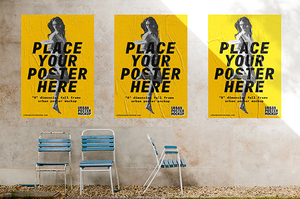 Mockups for Posters in Outdoor Urban Scenes
