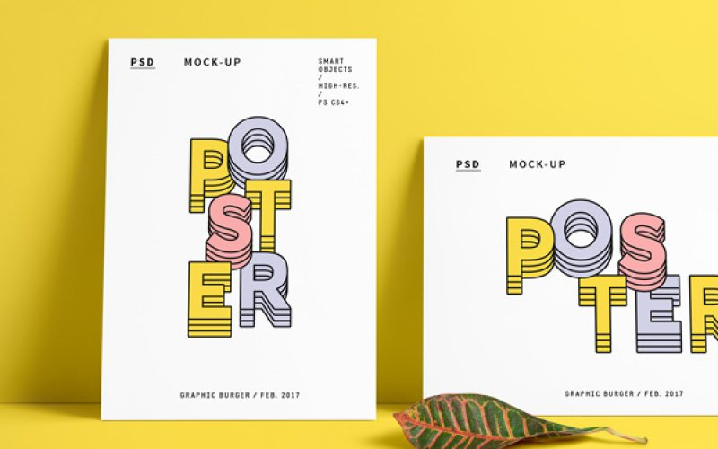 30 Poster Mockup PSD Templates to Showcase your Designs
