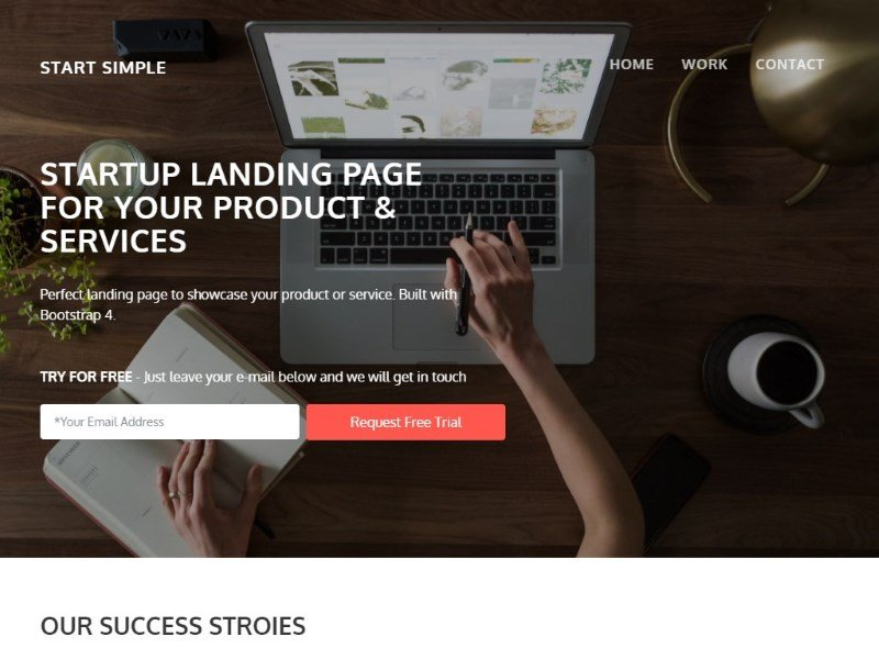 30 one page website templates built with html5 css3 super dev start simple is a free landing page template for startups small business and agencies built on bootstrap 4 this template features parallax scrolling in fbccfo