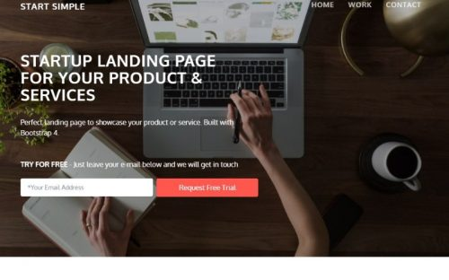Free Bootstrap 4 Landing Page for Startups and Small Business