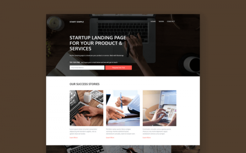 Free Bootstrap Landing Page for Startups and Small Business