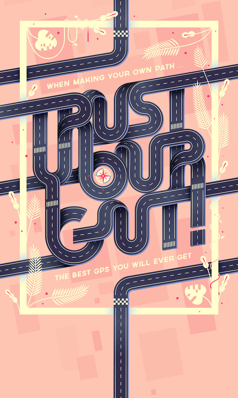 Trust Your Gut Typography Poster
